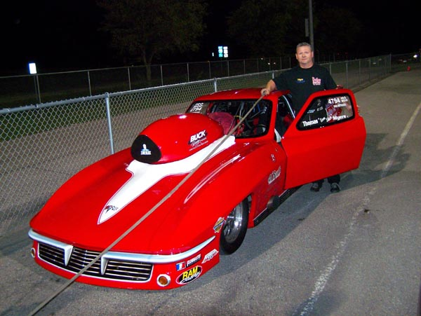 thomas myers has run a 409 best in his tom slick corvette