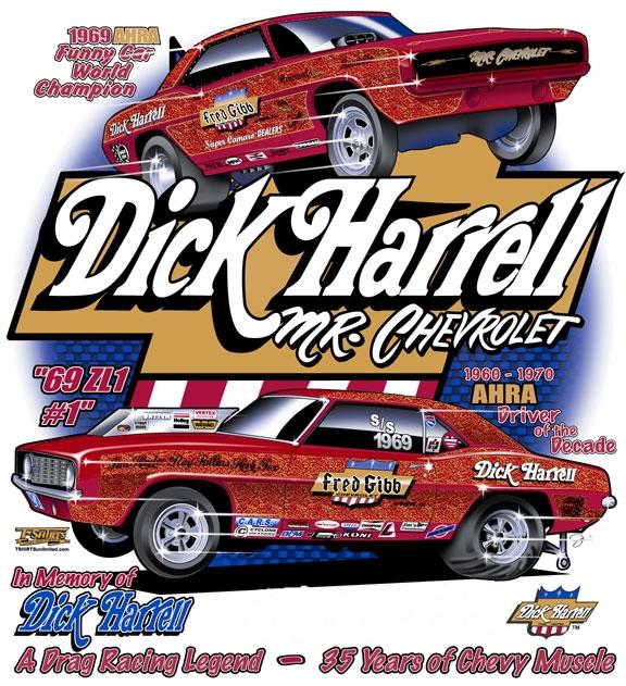 Chevrolet Drag Racing T Shirts : Drag racing gifts dick harrell chevy stuff