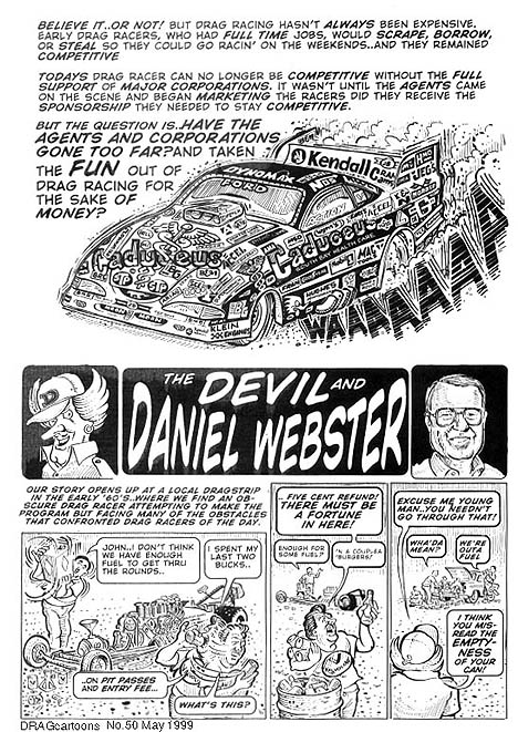 The Devil and Daniel Webster (1 of 6). Cartoon by Pete Millar