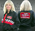 Valerie models the great Dick Harrell Performance Center jacket, Click to see the full size image.