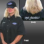 Valerie models the great looking Dick Harrell crew shirt. Click to see the full size image.