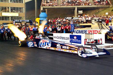 NHRA Top Fuel dragsters and
