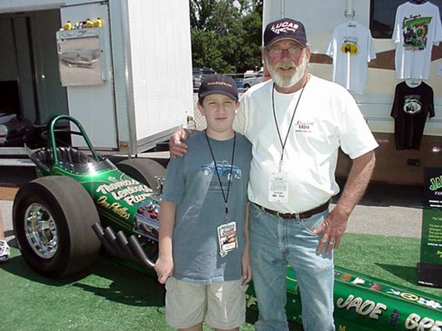 As a Pat Foster fan for 30+ years, this is a priceless photo to me. Jason and I had the honor of fetching Pat from the pits so he could do color commentary for the first round of Top Fuel.