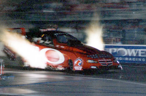 Gary Scelzi has the Oakley Dodge spitting fire. Photo by John Gulla