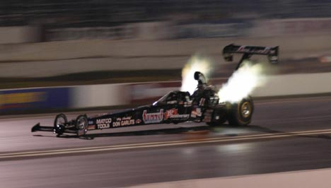 Don Garlits defeated Shirley Muldowney at E-Town at their last E-town match race. Photo by Art Cimilluca