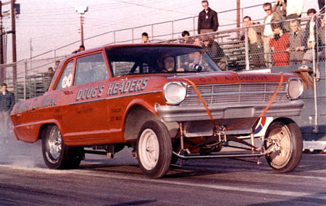 Doug Thorley's Chevy II Much early Funny Car. Photo thanks to Bob Plumer