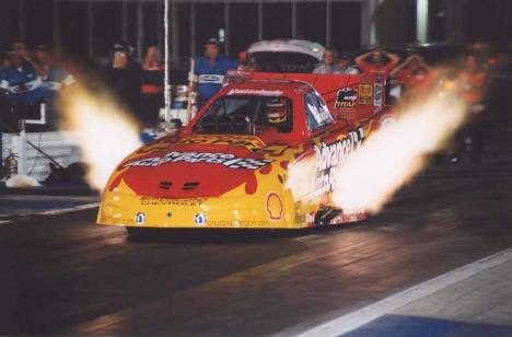 Cruz has done pretty good on his own in 2002. Here he lights up Atlanta. Photo by John Gulla