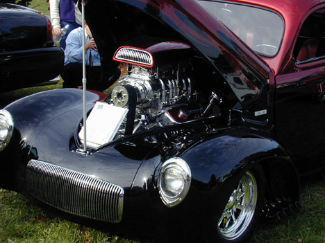 This high dollar Willys Pro Street machine impressed everyone. Photo by Bob Fermier