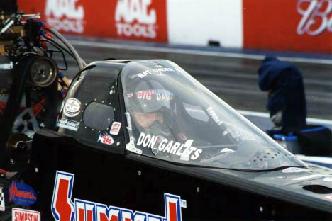 Don Garlits in the cockpit. Photo by John Gulla