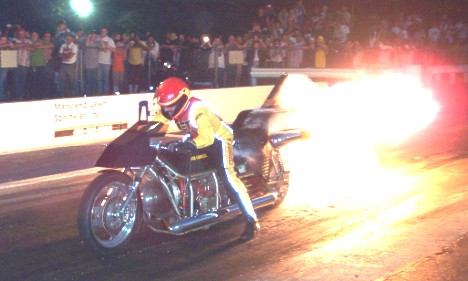 Bob Correll fires up the Jet Bike! Photo by Charlie Willis