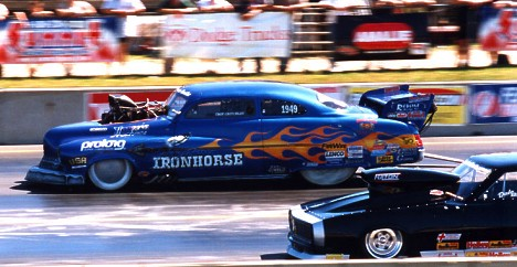 IHRA stars like Johnny Rocca will have a chance to race for the NHRA in 2001. Photo by James Morgan
