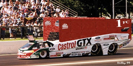 Is John Force testing this monster in an unprecedented run for an 11th championship? Photo foolery by Ron Dilley
