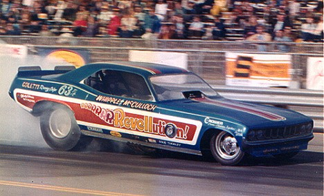 Do remember the very first Revellution funny car? Photo by Bob Plumer