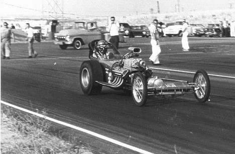 The Rakers Top Fuel car at San Gabriel. Photo by Steve Gibbs