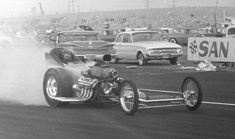 Weekly and Rivero at San Gabriel 1962. Photo by Steve Gibbs