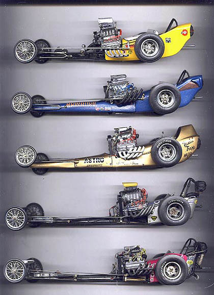 Drag Racing Picture of the Day - Five Scale Fuelers for the