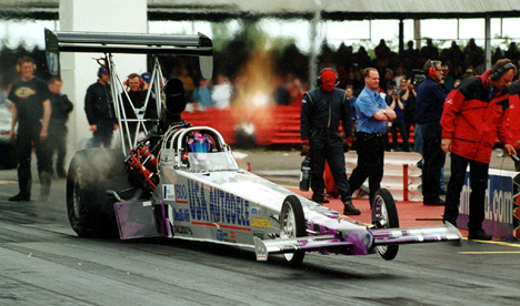 Kim Reymond is the 2002 European Top Fuel champion. Photo thanks to Kim Reymond