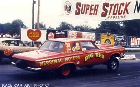 Big Red at the 1967 Super Stocks Nats. Photo by Joel Naprstek