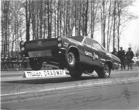 Pete Gates' Gate Job Mercury Comet Funny Car. Photo thanks to Daryl Huffman