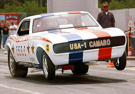 A hard launch for the amazing USA-1 Camaro. Photo by Dave Milcarek