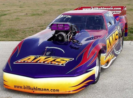 Bill Kuhlmann is ready to regain Pro Mod prominence with this wicked Corvette. Photo by Vicky Shiels