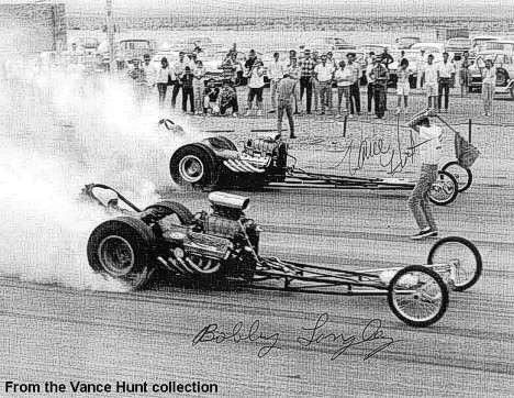 Bobby Langley and Vance Hunt duel it out at Amarillo. From the Vance Hunt Collection