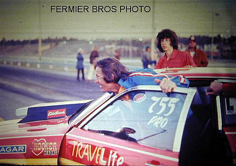 Dyno Don's huge grin tells the whole story -- he can hardly wait to get that Ford Pinto to the starting line! Photo by Bob Fermier