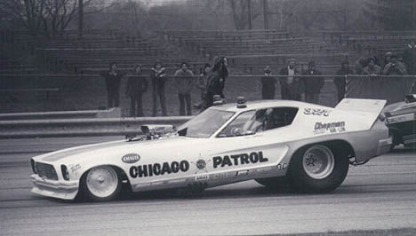 Ron Colson does his turn of duty in the famed Chicago Patrol. Photo by Bob Strait