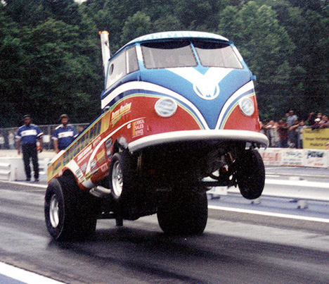 Chuck Poole's Chuckwagon VW wheelstander. Drag Racing Memories photo