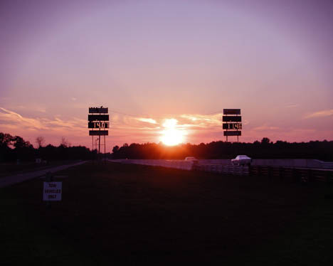 Ending of the day at the Mid-Michigan Motorplex. Photo by Susan A Lannoo-Schick