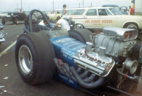 Kenny Safford's wicked rail dragster. Photo thanks to Daryl Huffman
