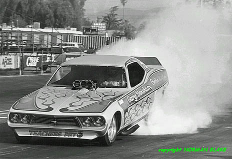 Prior to his involvement with John Force, Gary Densham drove a long string of independent funny cars. Photo by Norman Blake