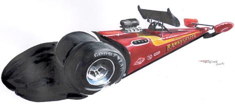The Barry Setzer Monocoque dragster by Jeff Teaford