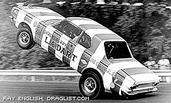Wild Bill Shrewsberry's LA Dart wheelstander.