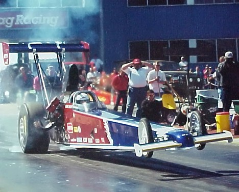 Gene Snow's A/Fuel Dragster. Photo by Chris Graves