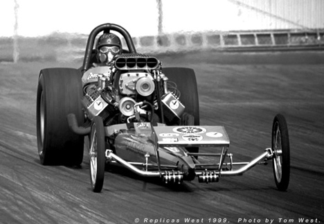 Groundshakers meant two different things with this Top Fuel team. Photo by Tom West