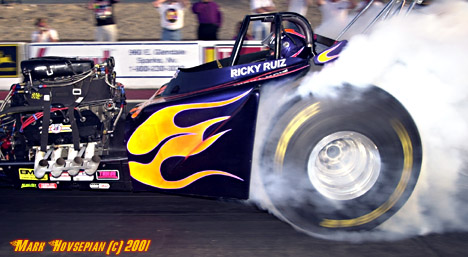 Ricky Ruiz enters his 40th year of thrilling drag racing fans. Photo by Mark Hovsepian