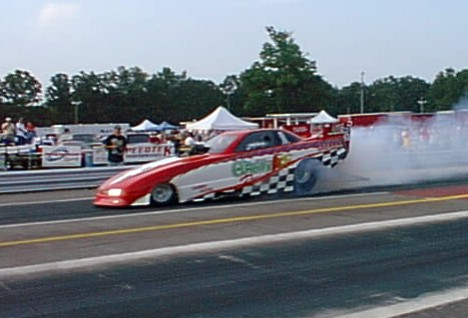 Scott Palmer set a new Ozark Raceway track record with his Olds Achieva. Photo by Montrose Rathbun