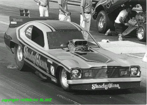 Jim Adolph handled the Shady Glenn funny car AND several magazine titles. Photo by Norman Blake