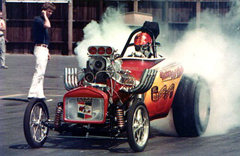 The Bishop and Buehl Fuel Altered was some kinda BAD! Photo from the Drag Racing Memories Archives