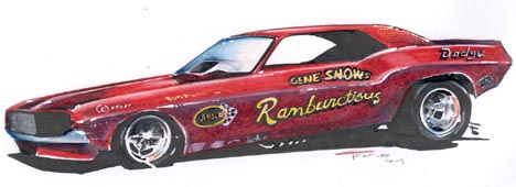 Gene Snow's Rambunctious Dodge Challenger by Jeff Teaford