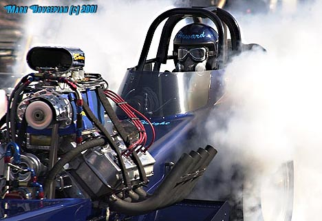 Howard Haight won the Good Guys Nitro Nationals in the Circuit Breaker Fuel Dragster. Photo by Mark Hovsepian