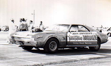 John Smyser's Terrifying Toronado was truly that -- it was one of the most ill-handling drag cars in history. Photo by Paul Hutchins