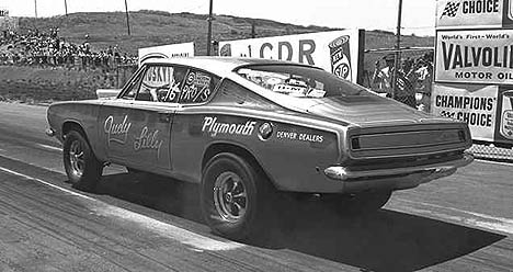 Judy Lilly's Super Stock Plymouth Barracuda. Photo by Pete Garramone