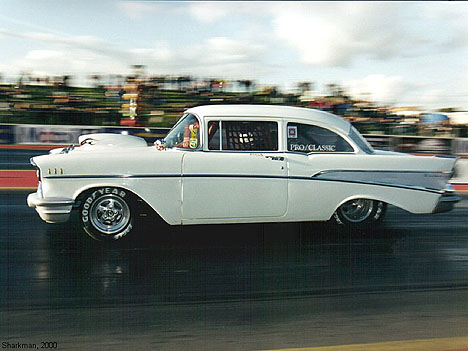 Roger Butterworth's Pro Classic '57 Chevy. Photo by Sharkman