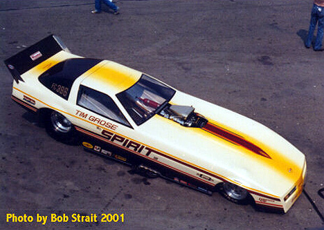 Tim Grose's Spirit Corvette Funny Car. Photo by Bob Strait