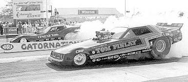 Tom Finlay's '79 Challenger Funny Car. Photo from the Flyin' Phil Archives