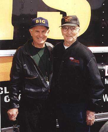 "Two legends of drag racing -- Don Garlits and C.J. ""Pappy"" Hart. Photo by Dan Kaplan"