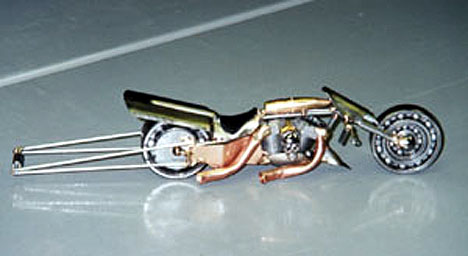 Another view of the Big Bore Drag Bike. Photo by Basic Bob