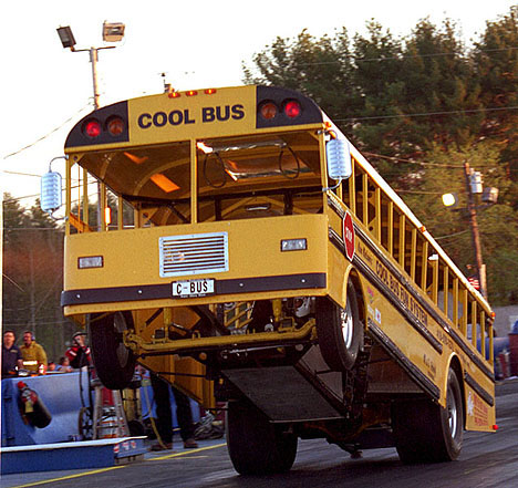 Ken Nelson's Cool Bus is one of the most popular wheelstanders out there. Photo by James Morgan